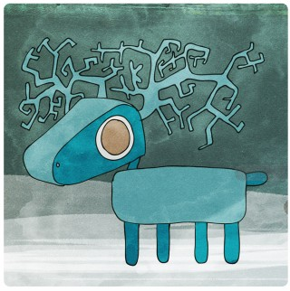 Blue Reindeer.