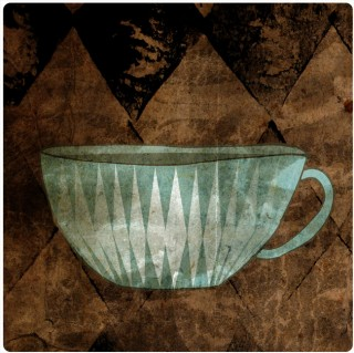 Long-Steeped Black Tea. Limited edition pigment ink miniprint (8x8cm, ed.50).