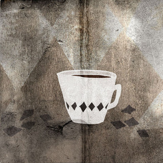 Coffee & Salmiac. Limited edition pigment ink miniprint (8x8cm, ed.50).