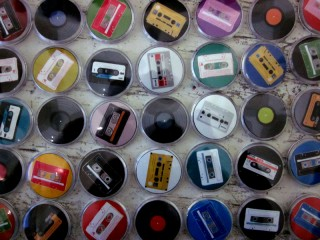 C-Cassette Madness - Badges for retro music lovers