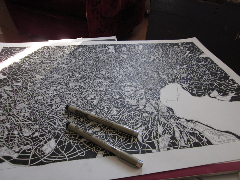 A2 sized illustration in process...