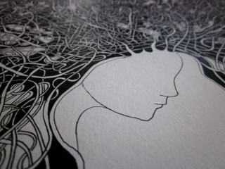 A2 sized illustration in process