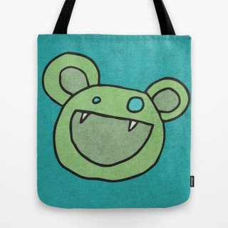 Slightly Amused Monsters, V Green, tote